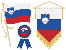 Slovenia flags Stock Photography