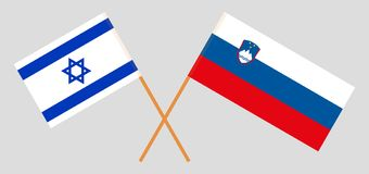 Slovenia and Israel. The Slovenian and Israeli flags. Official colors. Correct proportion. Vector illustration. N vector illustration