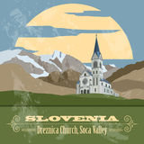Slovenia landmarks. Retro styled image Royalty Free Stock Photography