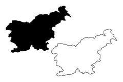 Slovenia map vector Royalty Free Stock Photo