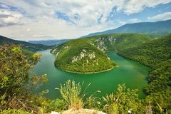 Slovenia meander of the river Drava Stock Image