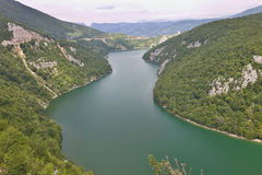 Slovenia meander of the river Drava Royalty Free Stock Image