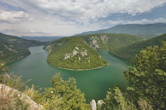 Slovenia meander of the river Drava Royalty Free Stock Images