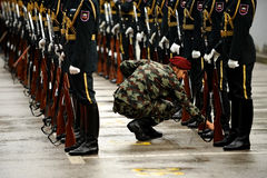 Slovenia military guard of honor Stock Images