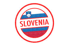 SLOVENIA. Passport-style SLOVENIA rubber stamp over a white background Stock Photography