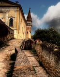 Slovenia Piran Bell Tower. Slovenia Piran Venetian Bell Tower Royalty Free Stock Photo