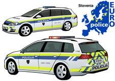 Slovenia Police Car Stock Photo