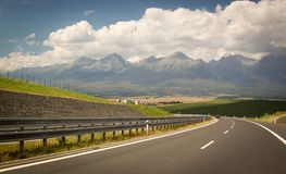 Slovenia, the road to the High Tatras. Journey Royalty Free Stock Images
