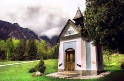 Slovenia. A small church in the Alps Stock Photos
