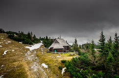 Slovenia. Small house hotel in the Alps Stock Photography
