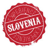 Slovenia stamp rubber grunge stock images