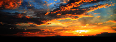 Slovenia sunset. Over the Austrian country royalty free stock photos