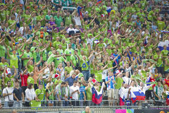 Slovenia supporters Royalty Free Stock Image