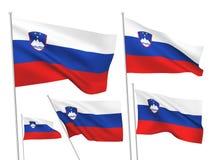 Slovenia vector flags Royalty Free Stock Photos