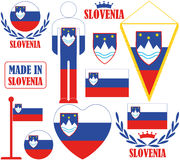 Slovenia. Vector illustration (EPS 10 Royalty Free Stock Image