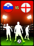 Slovenia versus England on Stadium Event Background Royalty Free Stock Image