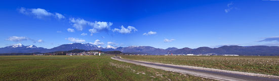 Slovenian Alps from filed Royalty Free Stock Photography