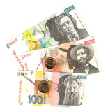 Slovenian Banknotes And Coins Stock Photography