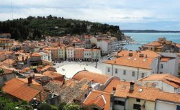 Slovenian city of Piran royalty free stock photos