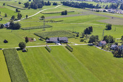 Slovenian countryside aerial landscape royalty free stock images