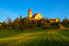 Free Slovenian Countryside In Spring Royalty Free Stock Image - 115533766