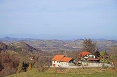 Slovenian countryside nearly city Maribor Royalty Free Stock Photos