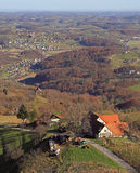 Slovenian countryside nearly city Maribor Royalty Free Stock Photo