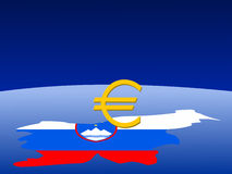 Slovenian Euro sign Stock Image