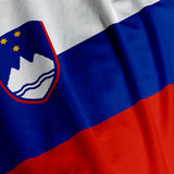 Slovenian Flag Closeup Stock Image