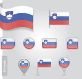 Slovenian flag icon Royalty Free Stock Photos