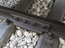Slovenian railway detail stock image
