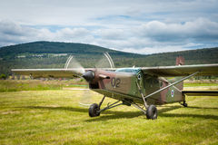 Slovenian school army plane Royalty Free Stock Photo