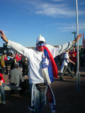 Slovenian soccer world cup fan stock image