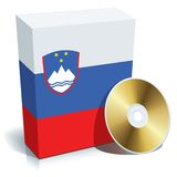 Slovenian software box and CD Stock Photography