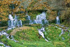 On the Slovenian streams in the October afternoon. Izborsk, Russia. On the Slovenian streams in the October afternoon. Izborsk. Russia Royalty Free Stock Photography