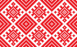 Slovenian Traditional Pattern Ornament. Seamless Background Stock Image