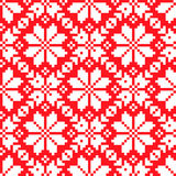 Slovenian Traditional Pattern Ornament. Seamless Background Stock Photos