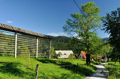 Slovenian village. Is a good place for relax Royalty Free Stock Photos