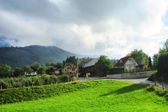 Slovenian village Royalty Free Stock Photo