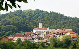 Slovenian village Visnja Gora Stock Photo