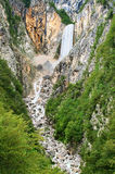 Slovenian waterfall Stock Photos