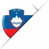Slovenien fackflagga Arkivfoto