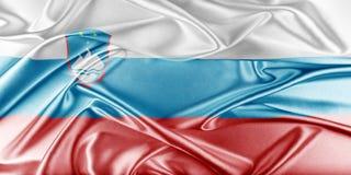 Slovenien flagga Arkivfoton