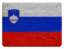 Slovenien flagga Royaltyfri Foto