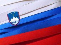 Slovenien flagga eller baner Arkivbilder