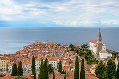 Slovenien gammal stad Fotografering för Bildbyråer