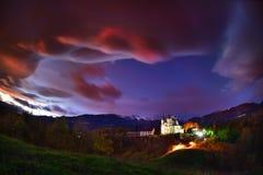 Slovenien härligt landskap, natur och höstplats royaltyfri fotografi
