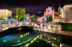 Slovenien Ljubljana Royaltyfri Fotografi
