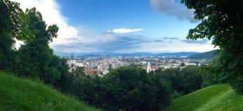 Slovenien panorama royaltyfria bilder