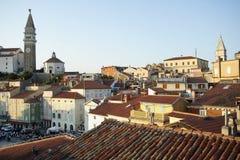 Slovenien/Piran beskådar Fotografering för Bildbyråer